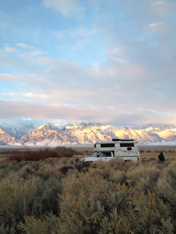Camping Eastern Sierras on Way to Baja Surf Trip
